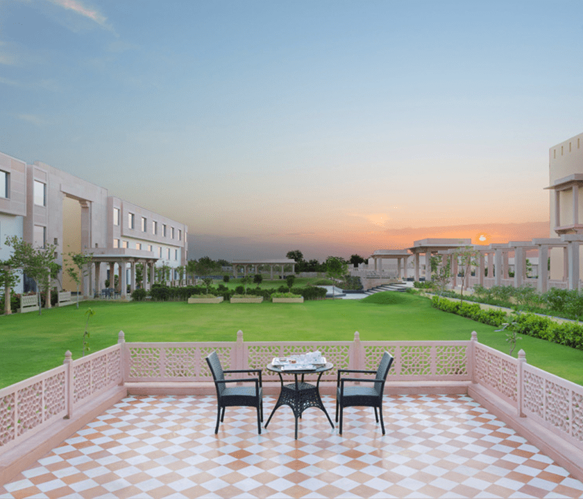 tea-setup-sunrise-welcomhotel-jodhpur